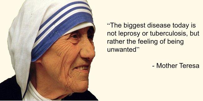 Mother Teresa on Leprosy