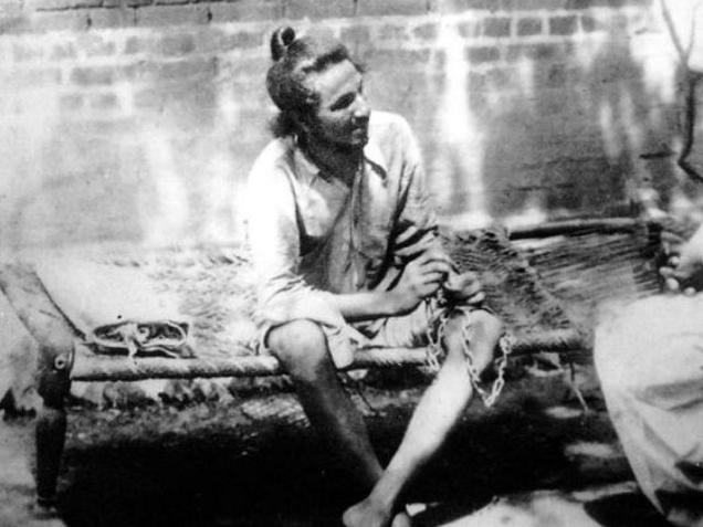 An archive photograph of Bhagat Singh in jail in Lahor