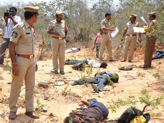 Smugglers shot dead in Chittoor