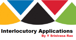 Interlocutory Applications by Y Srinivasa Rao
