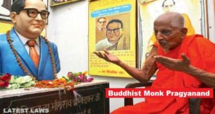 Monk Pragyanand, who initiated BR Ambedkar into Buddhism